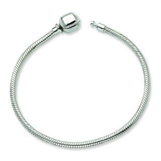 "Sterling Silver European Italian Snake Chain 7"" Bracelet for Pandora Biagi Troll Chamilia Beads Charms. Either Bruna Ferrari or Simstars Reflections Brand Will Be Sent. Great Happy Mother's Day, Birthday, Holiday, Specail Occasion Gifts!"