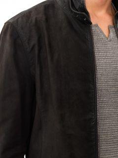 Brushed suede biker jacket  John Varvatos