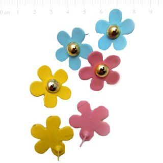 One pair Pastel colored Daisy Ear studs. Random color sent.