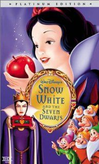 Snow White and the Seven Dwarfs (Disney Platinum Edition) [VHS]: Adriana Caselotti, Harry Stockwell, Lucille La Verne, Roy Atwell, Stuart Buchanan, Hall Johnson Choir, Eddie Collins, Pinto Colvig, Marion Darlington, Billy Gilbert, Otis Harlan, Scotty Mattr