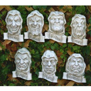 Seven Cardinal Sins Wall Decor : Outdoor Statues : Patio, Lawn & Garden