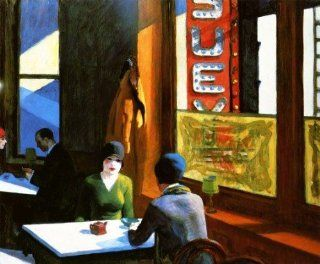 "Chop Suey by Edward Hopper Ladies having Coffee New York Life 12"" X 16"" Image Size Vintage Poster Repro on Matte Paper. Several More Sizes Available!   Prints"