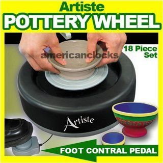 As Seen On TV Artiste Pottery Wheel Set 18 Pcs: Toys & Games