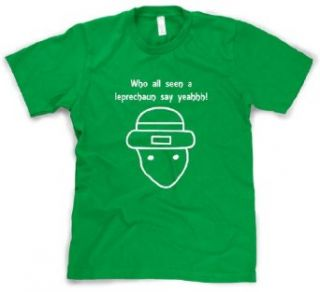 Who All Seen a Leprechaun Sketch T Shirt Funny Viral Internet Meme Shirt Clothing