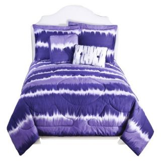 Tie Dye Comforter Set   Purple (Twin)