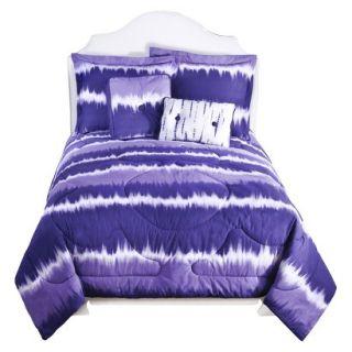 Tie Dye Comforter Set   Purple (Twin)