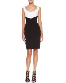 Womens Quilted Jersey Sleeveless Dress   Escada   Black/White (34)