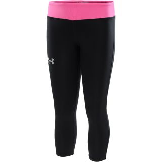UNDER ARMOUR Girls HeatGear Sonic Capris   Size: XS/Extra Small, Black/silver