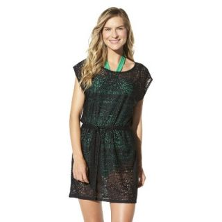 Merona Womens Crochet Coverup Dress  Black XS