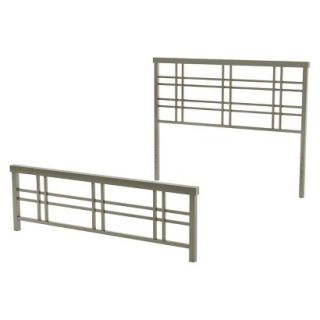 Queen Bed: Amisco Heritage Metal Bed   Grey