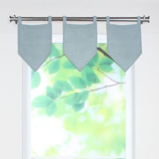Brite Ideas Living Circa Solid V Valance with 2 Tab Tops   Valances