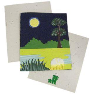 Mr. Ellie Pooh Handmade Designer Midnight Blue Elephant Card (Sri