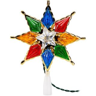 Holiday Time 8 Pointed Star Christmas Tree Topper, Gold