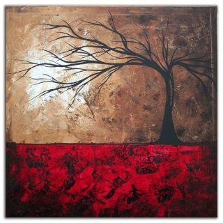 Megan Duncanson Passion Fire Colorful Modern Landscape Painting