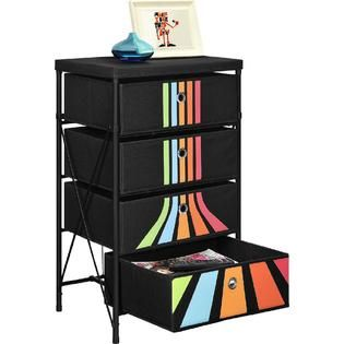 Altra  4 bin Storage System, Black with Stripes