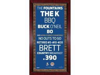 Kansas City Royals Subway Sign w/ Game Used Dirt Framed 16x32 Photo (Brick Background)