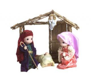 Precious Moments Nativity Set with Stable —