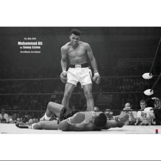 Muhammad Ali   1965 1st Round Knockout Against Sonny Liston Poster Print (36 x 24)