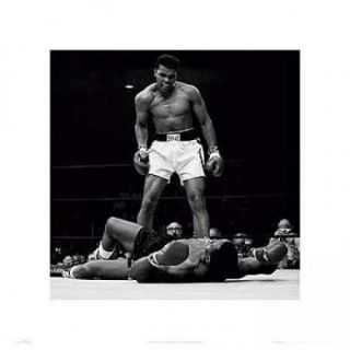 Muhammad Ali   1965 1st Round Knockout Against Sonny Liston Poster Print (16 x 16)