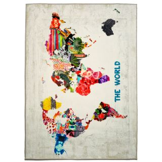 Hipster Mapa Mundi Graphic Art on Wrapped Canvas by Oliver Gal