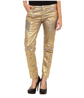 bd11baed2800 pierre balmain shiny gold moto skinny jean golden