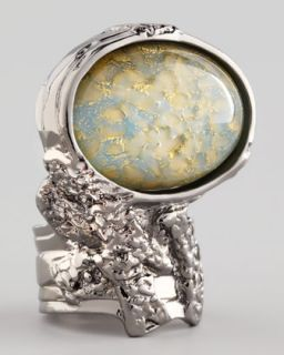 Yves Saint Laurent Turquoise Glass Arty Ring