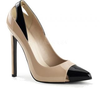 Womens Pleaser Sexy 22 Pump   Nude/Black Patent