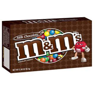 M&Ms Milk Chocolate Candies, Theater Box (3.4 oz. box, 12 ct.)