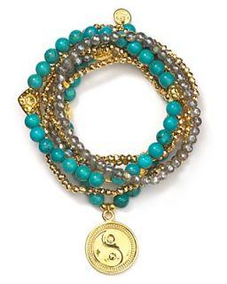 Good Charma 22 Karat Gold Vermeil Yin Yang Bracelet