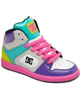DC Shoes Girls or Little Girls Rebound High Top Sneakers   Kids