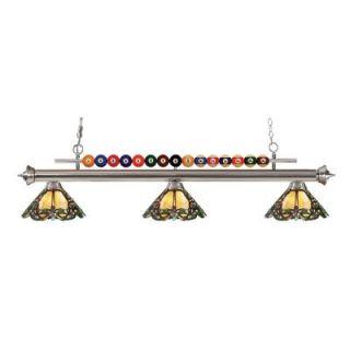 Filament Design Kerstin 3 Light Brushed Nickel Billiard Light CLI JB048674
