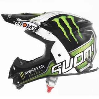 Suomy MX Jump Monster Energy Helmet Black/White/Green MD