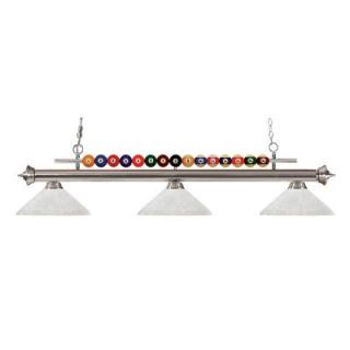 Filament Design Kerstin 3 Light Brushed Nickel Billiard Light CLI JB048346