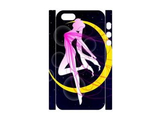 3D Print Hot Japanese Anime Series&Sailor Moon Dance on the Moon  Background Case Cover for iPhone 5/5S  Personalized Hard Cell Phone Back Protective Case Shell Perfect as gift