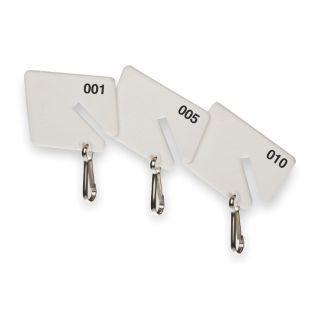 KABA ILCO Etiquetas con Ranura para Llaves 121 a 200,PK80   Etiquetas de Repuesto   2GVH8|Etiquetas para Llaves 121 200 (80 Etiquetas)