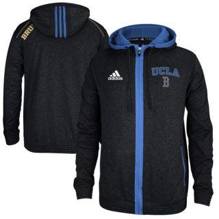 adidas UCLA Bruins Black Heathered Full Zip Hooded Sweatshirt