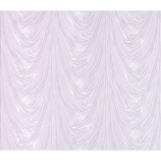 Spazio 74.26 sq. ft. Adriana Lavender Draped Satin Fabric Wallpaper 481 1544