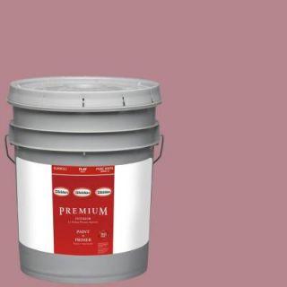 Glidden Premium 5 gal. #HDGR25U Vintage Rouge Red Flat Latex Interior Paint with Primer HDGR25UP 05F