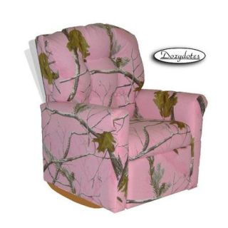 Dozydotes Contemporary Camouflage Pink Kids Rock Recliner