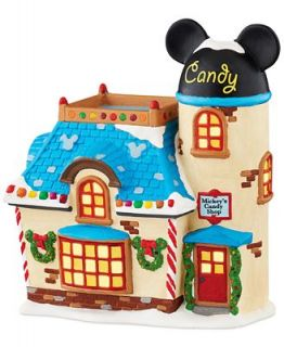 Department 56 Mickeys Christmas Village Collection Candy Shop