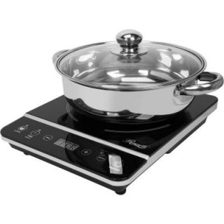 Rosewill 1800 Watt Induction Cooker 13.58 in. Black Cooktop with Stainless Steel Pot RHAI 13001