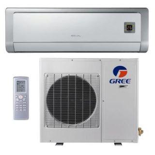 GREE Premium Efficiency 12,000 BTU Ductless Mini Split Air Conditioner with Heat   208/230V/60Hz GWH12ABD3DNA2D