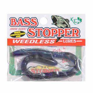 K&E Lures Original Bass Stopper, 2 Weedless Hooks