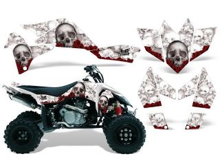 2006 2009|Suzuki|LTR|450::AMRRACING ATV Graphics Decal Kit:Bones White