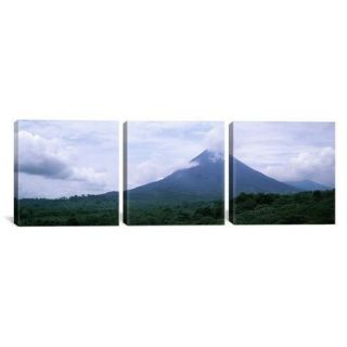 iCanvas Photography Volcano, Alajuela Province, Costa Rica 3 Piece on Wrapped Canvas Set