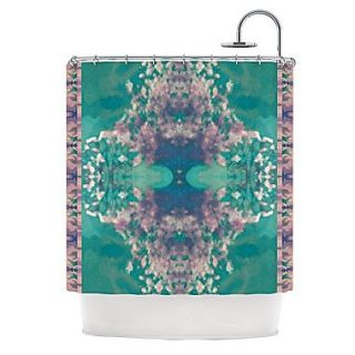 KESS InHouse Ashby Blossom Teal Shower Curtain