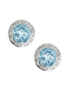 Batu Sari Blue Topaz Earrings by John Hardy