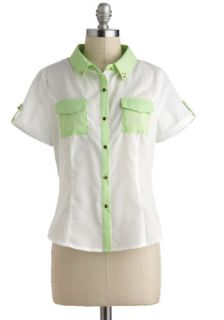 Tropical Troop Top  Mod Retro Vintage Short Sleeve Shirts