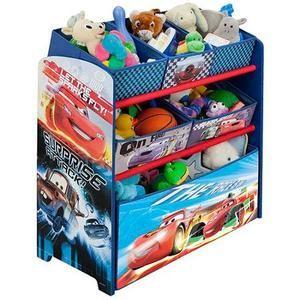 Disney   Cars Multi Bin Toy Organizer & Table Lamp Bundle