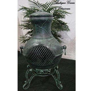 Blue Rooster Etruscan Cast Aluminum Chiminea   ALCH028